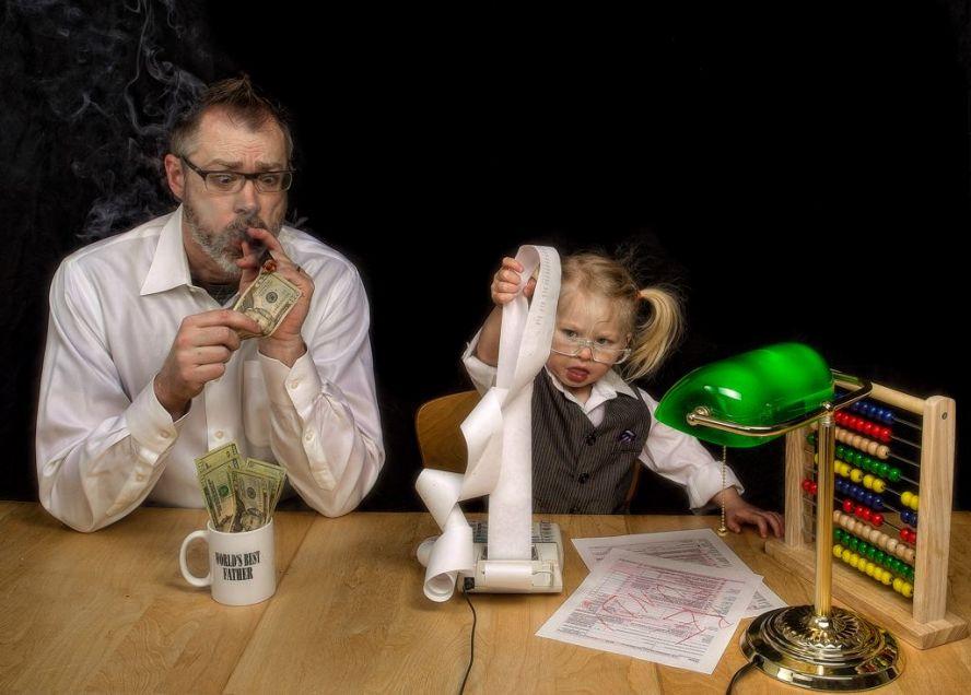Папа и дочка веселые картинки, лет