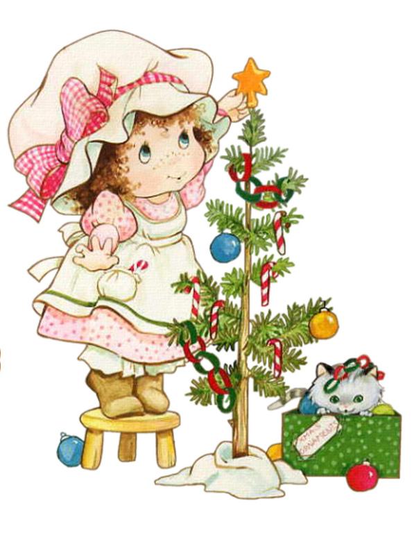 Новогодние открытка для девочки