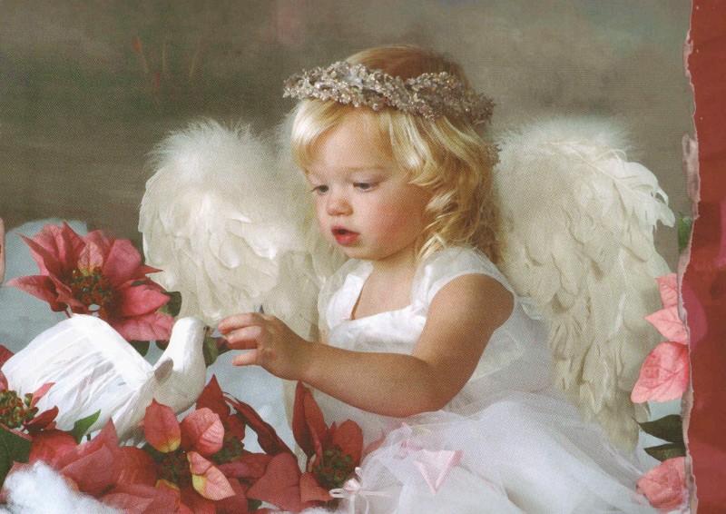Ангел фото открытки, 50-ти
