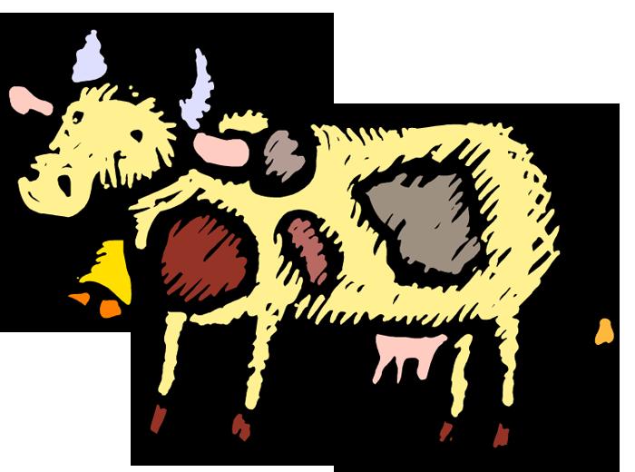 Картинка анимашка корова, как красиво