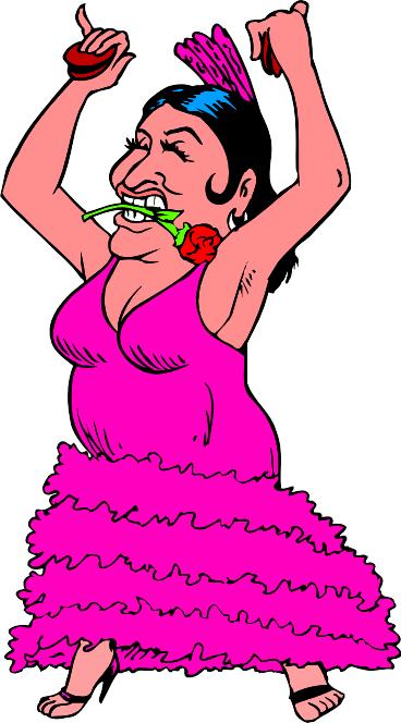 Открытка, смешная картинка девушка танцует