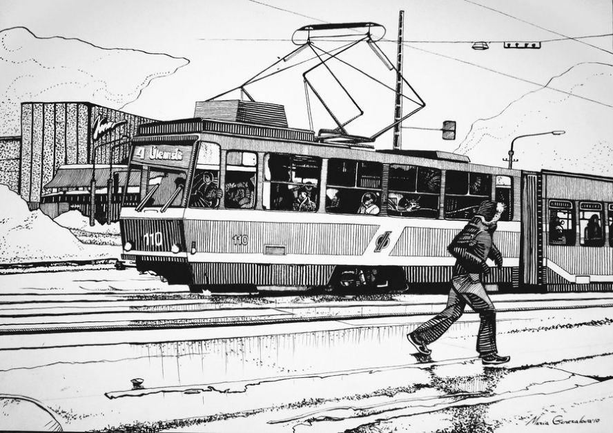 все контурная картинка трамвая сети можно найти