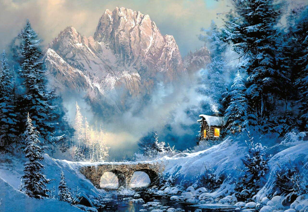 Красивые открытки зимний пейзаж, марта