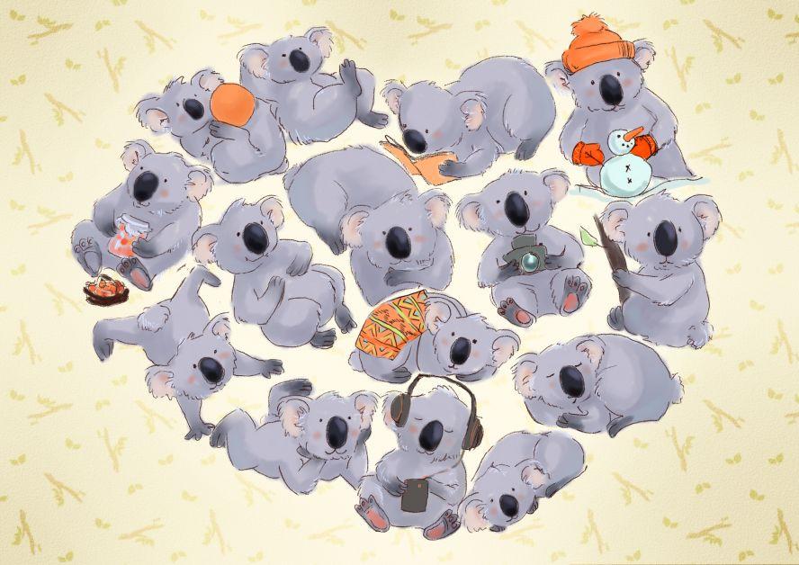 Открытки с коала