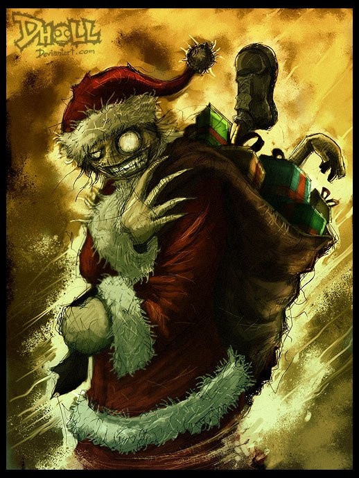 Добрый вечер, ужасные открытки с новым годом