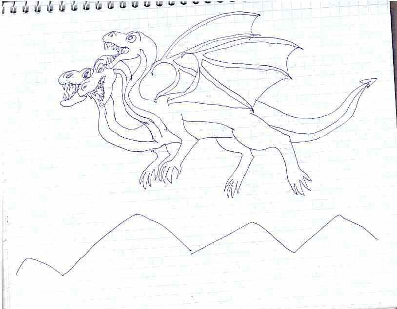 Картинки змей горыныч для срисовки