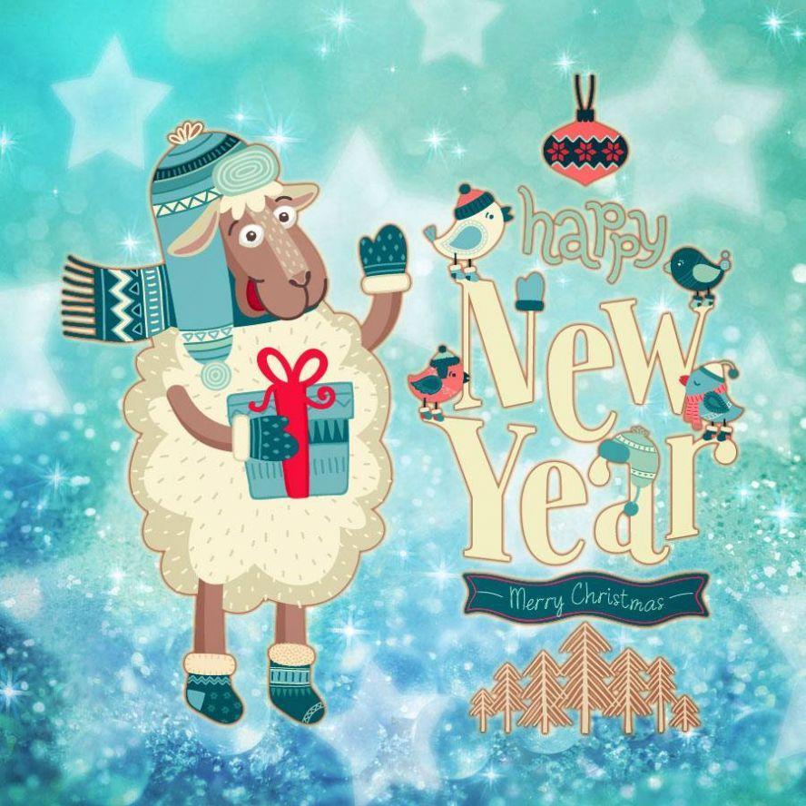Новогодняя открытка с новым 2015 годом, ворде сделать открытку