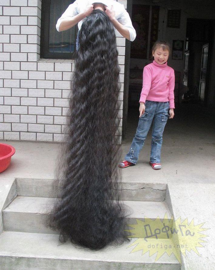 Картинки самые длинные волосы мира
