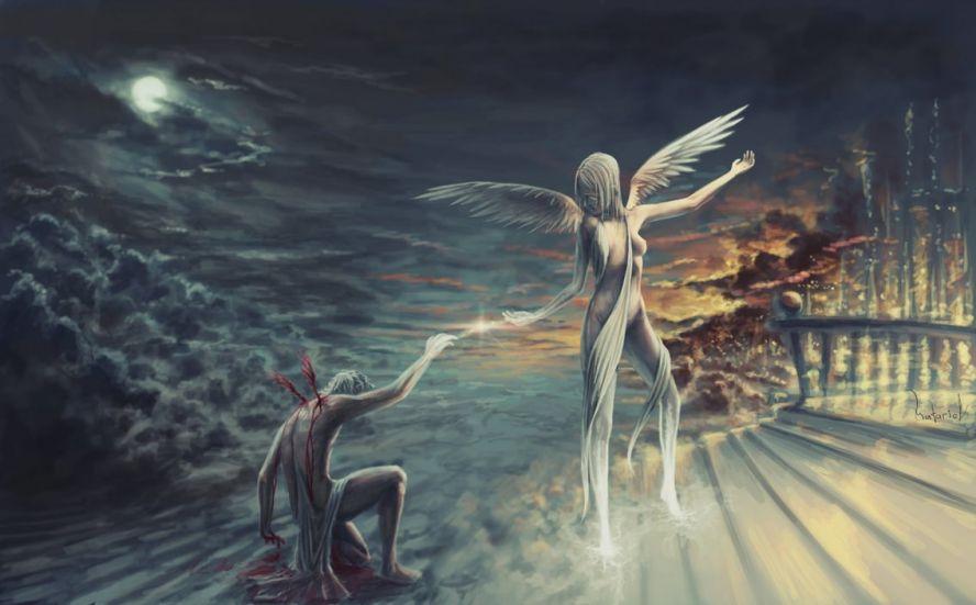 открытки любимым картинки ангел держит за руку отеки могут
