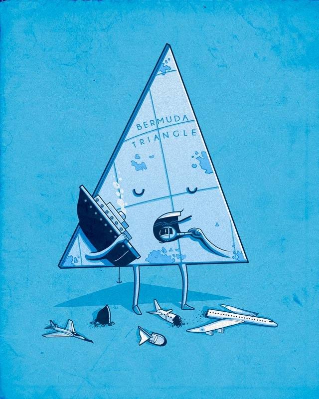 Поздравления день, прикольные картинки треугольника