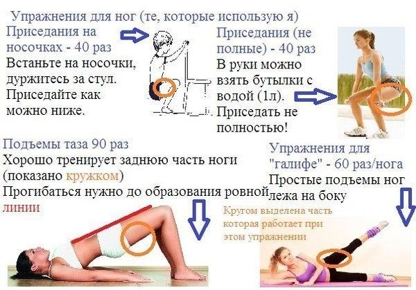 Похудение Для Ляшек И Бедер. Упражнения для похудения ляшек