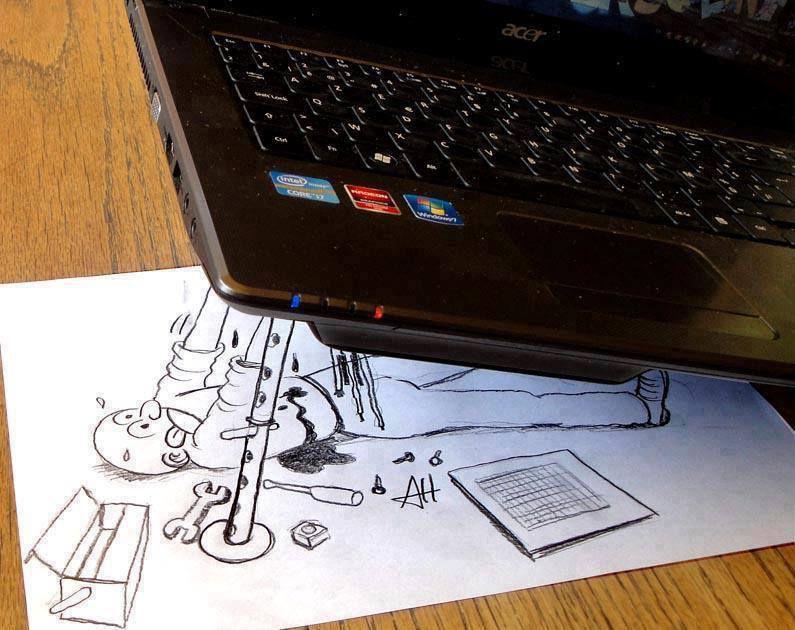 Днем рождения, прикольные картинки про ноутбук