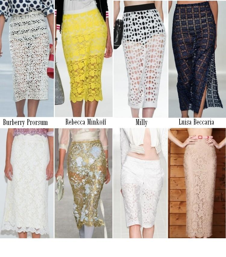 48894921b6fd953 Еще одним «ноу-хау» весеннего сезона станут прозрачные юбки из кружева.  Такие юбки подойдут модницам которые хотят покрасоваться своими формами, ...
