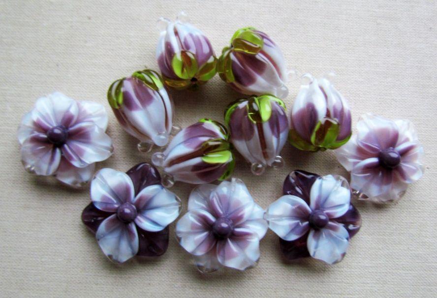 Купить бусины цветы