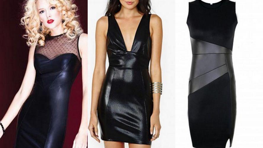 447b2d00c11d374 Тем, кому блеска покажется слишком много, подойдет комбинированное черное  платье с блестящими вставками на талии, отлично моделирующее идеальную  фигуру ...