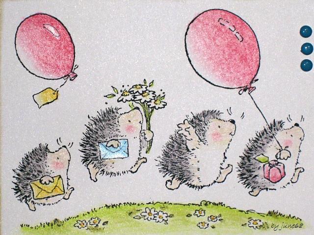 Картинки с ежиком прикольные с днем рождения