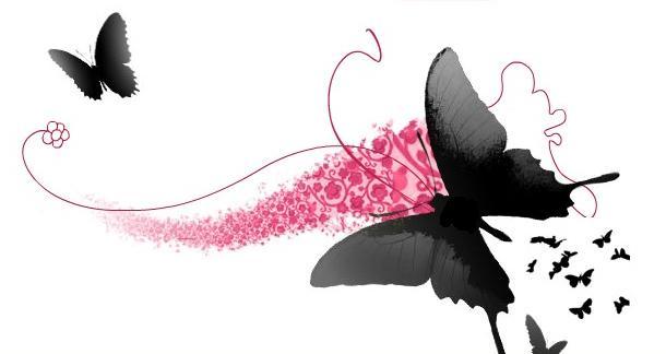 Бабочки с надписью картинки, спасибо