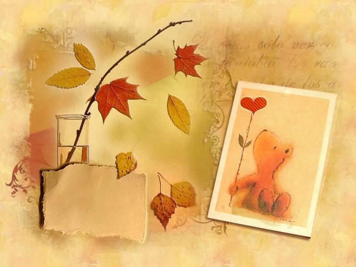 Поздравительная открытка на тему осень, квиллинг рождеству