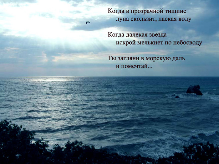 Стихи мечтайте любите