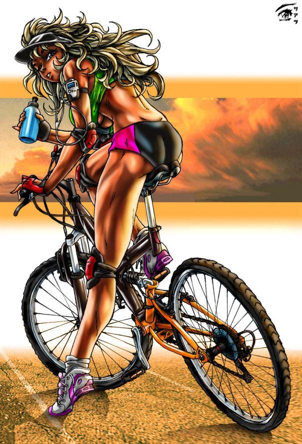 День рождения, картинки девочки на велосипедах смешные