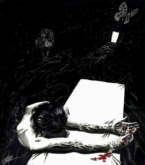 Грустная картинка о смерти