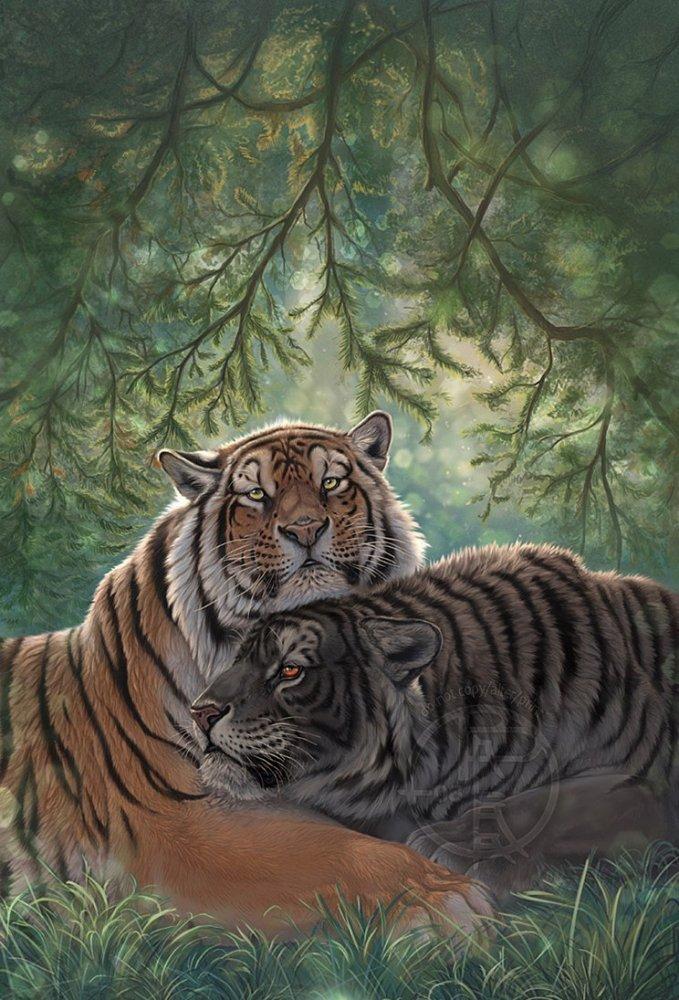 Картинки и открытки с тиграми, вышивки крестом