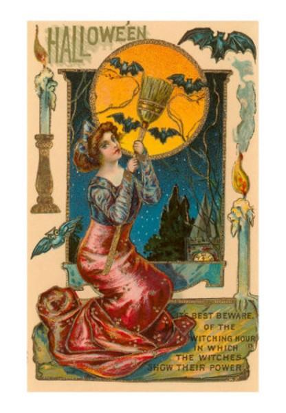 Приколы, старинные открытки ведьмы