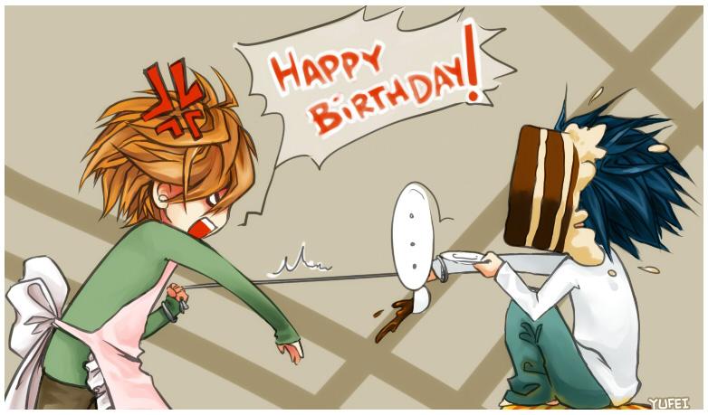 Аниме открытки с днем рождения женщине